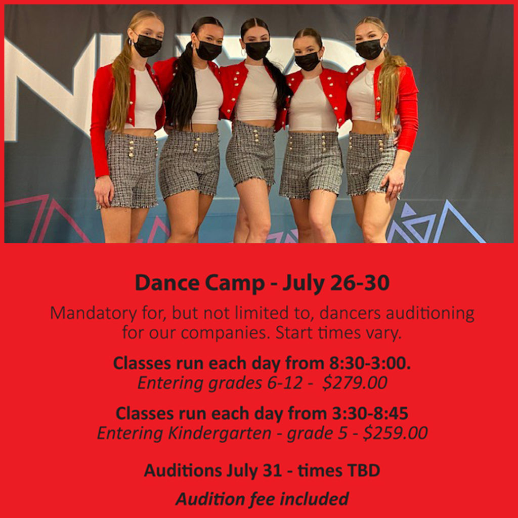 dance camp and auditions